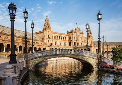 The Plaza de España in Seville, Spain