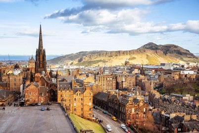 View of Edinburgh city and Arthur's Seat