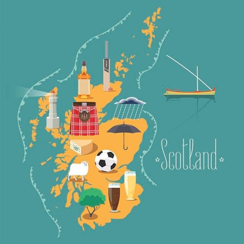 Illustrative map of Scotland