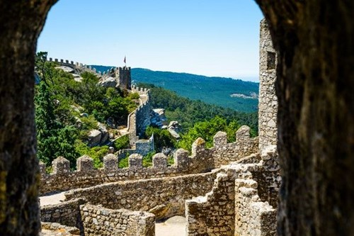 View of Castelo dos Mouros from a watchtower