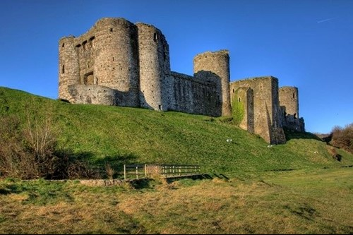 Kidwelly Castle on a winter's day