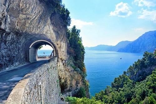 Coastal Amalfi road